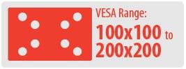 VESA Range: 100x100 to 200x200 | Small Ceiling TV Mount