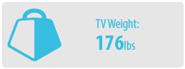 TV Weight: 100 lbs | Medium TV Wall Mount