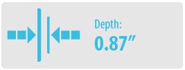 "Depth: 0.87""   Large TV Wall Mount"