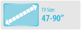"""TV Size: 47-90""""   Large TV Wall Mount"""