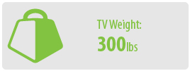 TV Weight: 300 lbs   Extra Large TV Wall Mount