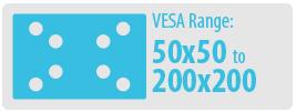 VESA Range: 50x50 to 100x100 | Small TV Wall Mount