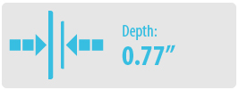 "Depth: 0.77"" | Small TV Wall Mount"