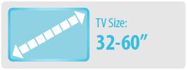 "TV Size: 32-60""   Medium TV Wall Mount"