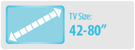 TV Size: 42-80"