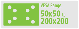 VESA Range: 50x50 to 200x200 | Small TV Wall Mount