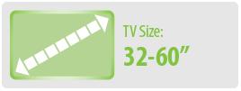 "TV Size: 32-60"" | Medium TV Wall Mount"