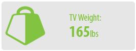 TV Weight: 165 lbs | Medium TV Wall Mount