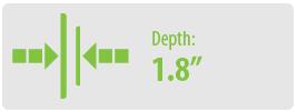 "Depth: 1.8"" | Large TV Wall Mount"