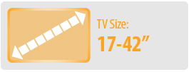 """TV Size: 17-42"""" 