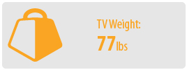 TV Weight: 77 lbs | Small TV Wall Mount