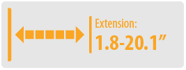 """Extension: 1.8-20.1"""" 