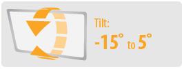 Tilt: -15° to 5° | Small TV Wall Mount