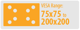 VESA Range: 75x75 to 200x200 | Small TV Wall Mount