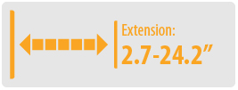 """Extension: 2.7-24.2"""" 
