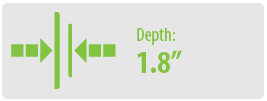 Depth: 1.81 | Extra Large TV Wall Mount