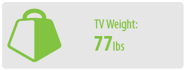 TV Weight: 77 lbs   Small TV Wall Mount