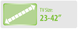 """TV Size: 23-42""""   Small TV Wall Mount"""