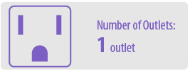 Number of Outlets: One | 1 Outlet Surge Protector