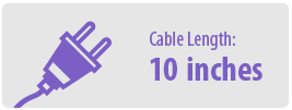 Cable Length: Ten Inches | 10 Inch Power Cable