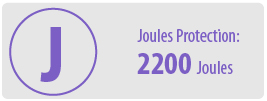 Joules of Protection: 2200