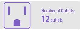 Number of Outlets: Twelve   12 Outlet Surge Protector