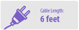 Cable Length: Six Feet   6 Foot Power Cable