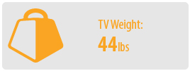 TV Weight: 44 lbs   Small TV Wall Mount