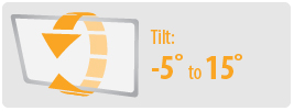 Tilt: -5° to 15°   Small TV Wall Mount