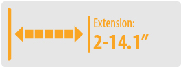 """Extension: 2-14.1""""   Small TV Wall Mount"""