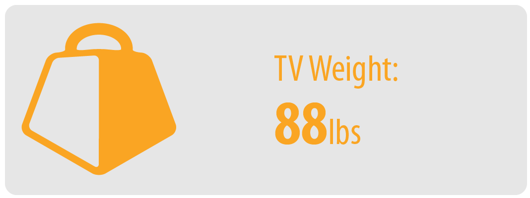 TV Weight: 88 lbs   Large TV Wall Mount