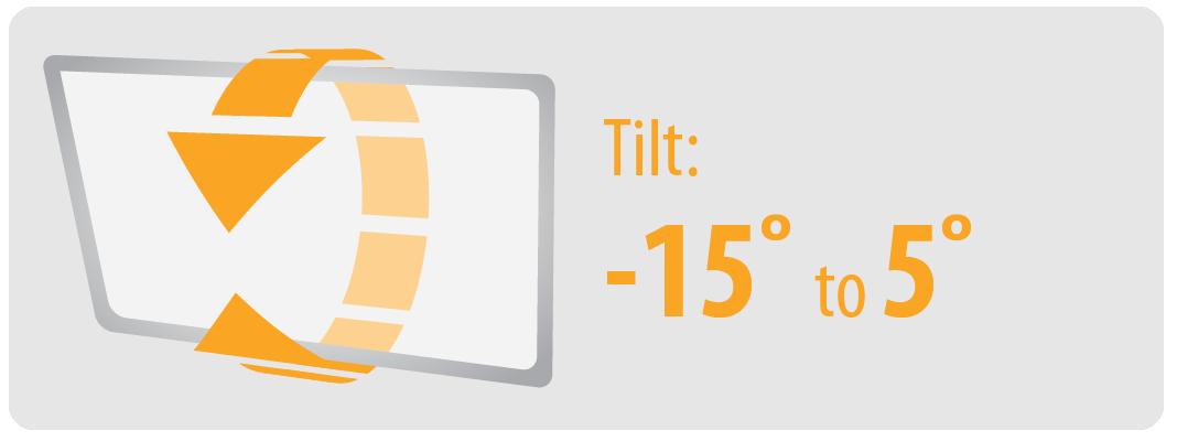 Tilt: -15° to 5°   Large TV Wall Moun