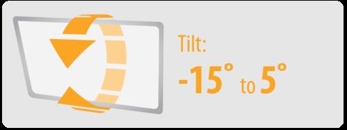 Tilt: -15° to 5° | Large TV Wall Moun