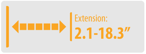 """Extension: 2.1-18.3"""" 