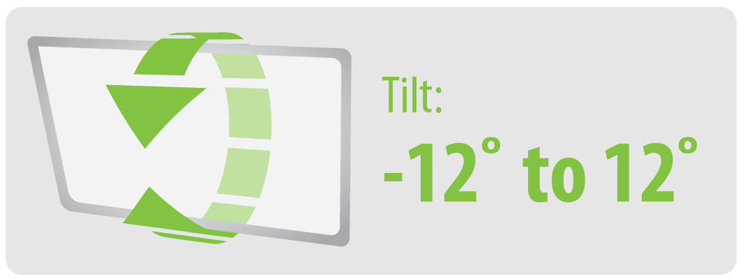Tilt: -12° to 12° | Large TV Wall Mount