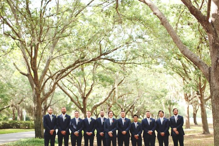 Cypress Grove Estate Orlando Central Florida Blush and Navy Wedding