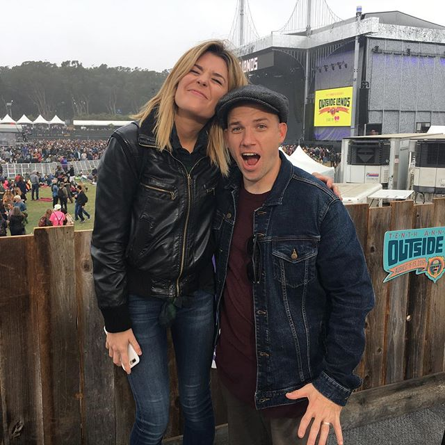 In case you forgot how short I am. @gracehelbig is here to help. #outsidelands @outsidelands