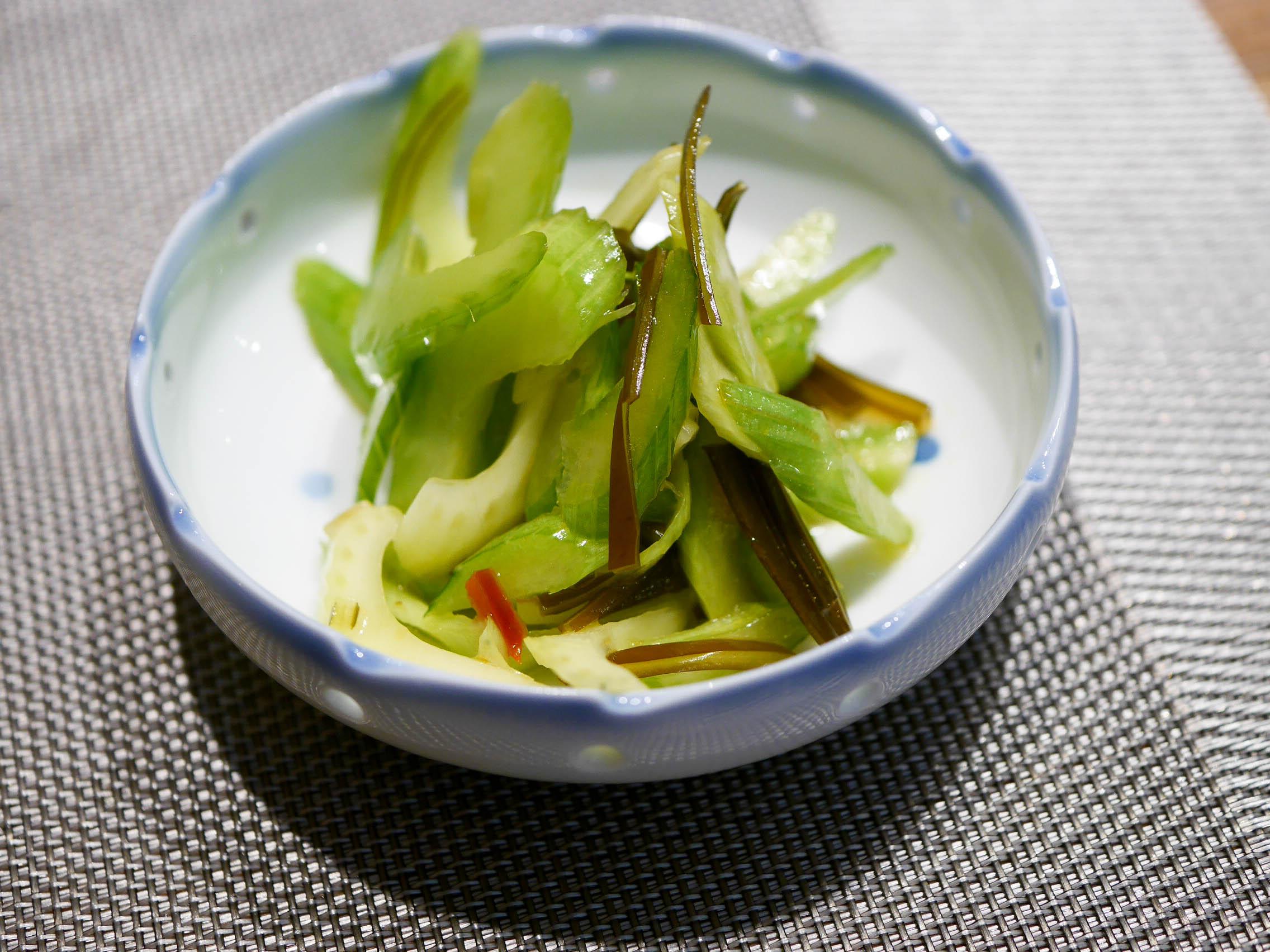 Spicy celery salad