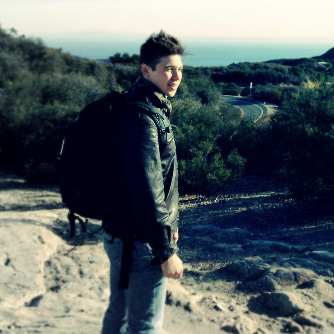 Hiking in Malibu, California.