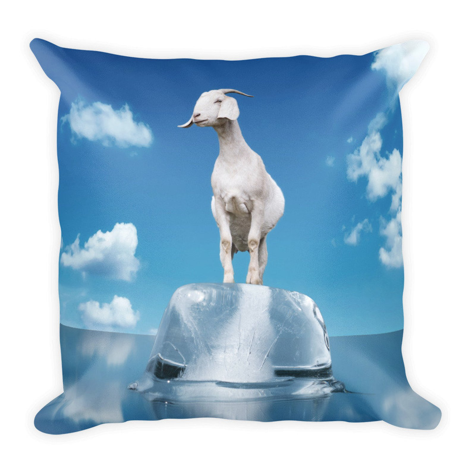 """Goat Pillow 18"""" x 18"""" Perpetual Groove"""