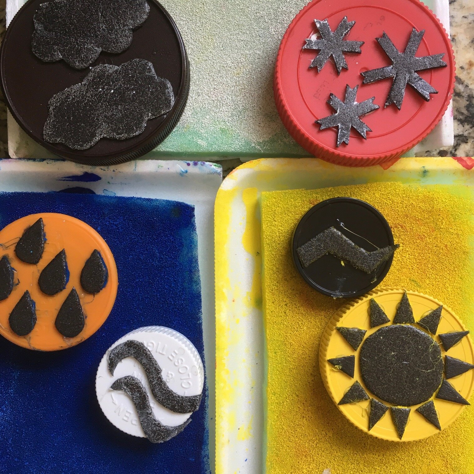 DIY Stamp Pads and Stamps -