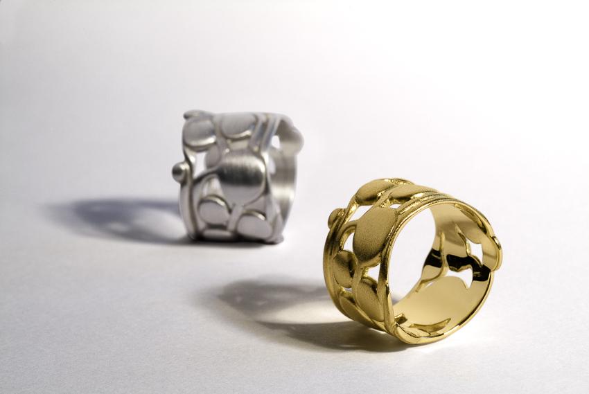 Ringe in Silber und Gelbgold