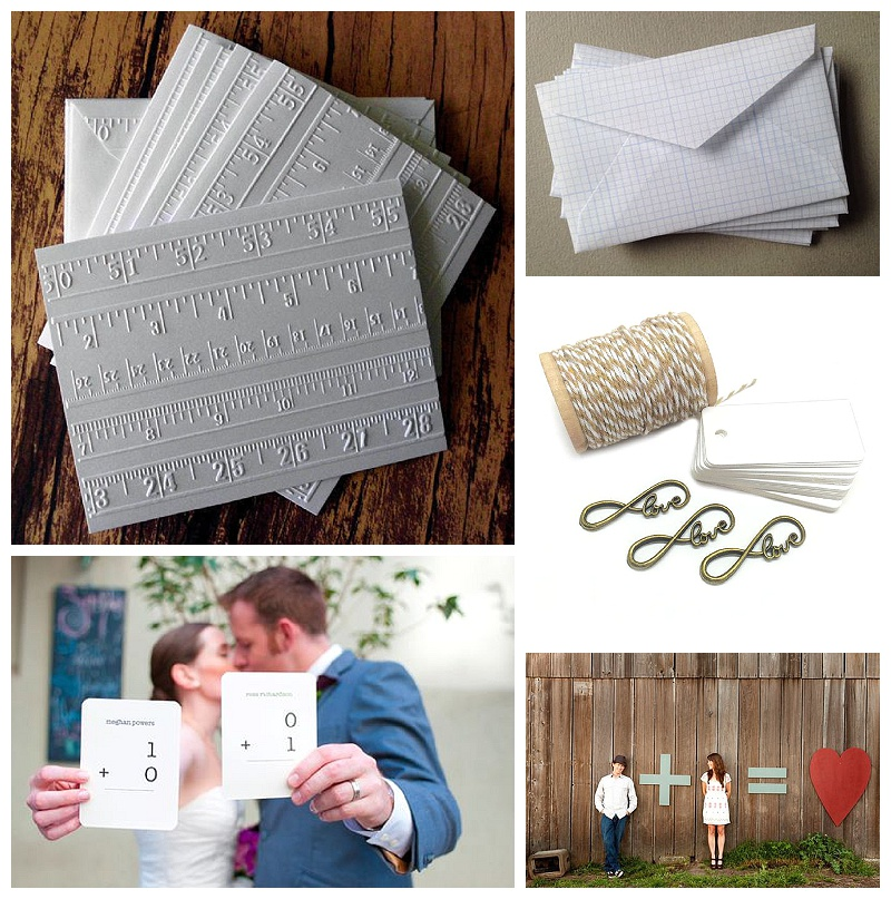 Embossed Ruler Stationary - Write Cards   Grid Envelopes -  P  aperette   Infinity Love Charms - Crossvine Designs   Flashcard Photo -  Merci New York ,  Eugene Wedding Planning   Save the Date - W  isgoon