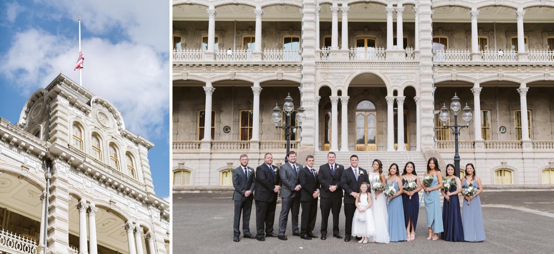 palace_Julia_Hawaii_iolani_Honolulu_Wedding_Bridesmaids_Cafe_Groom_party_Bride_Groomsmen.jpg
