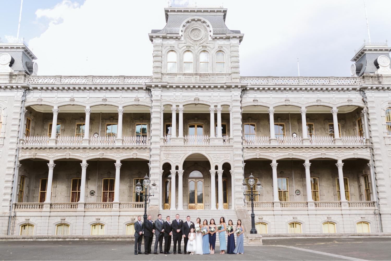 palace_Julia_Hawaii_iolani_Honolulu_Wedding_Bride_Cafe_Groom_Bridesmaids_Groomsmen.jpg