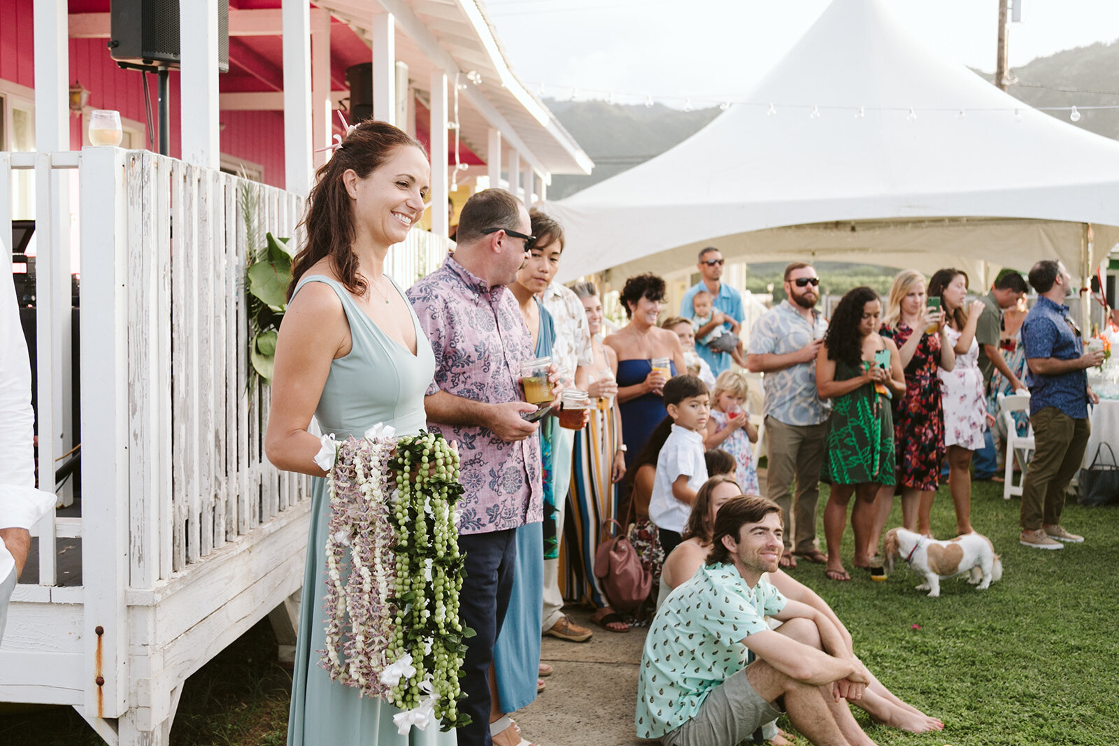 Mokuleia-North-Shore-Hawaii-Beach-House-Wedding-ceremony-grass-lawn