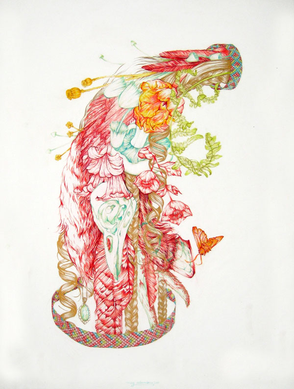 The Things We Have In Common - 2011 Colored Pencil and Acrylic, on paper (sold)