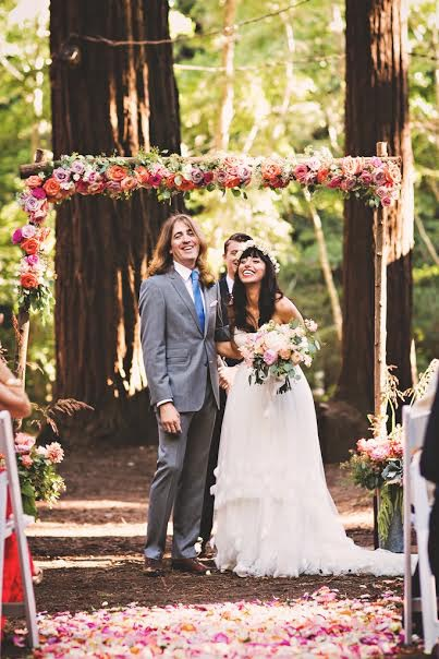 Kate Healey Flowers at a Redwood Forest Wedding