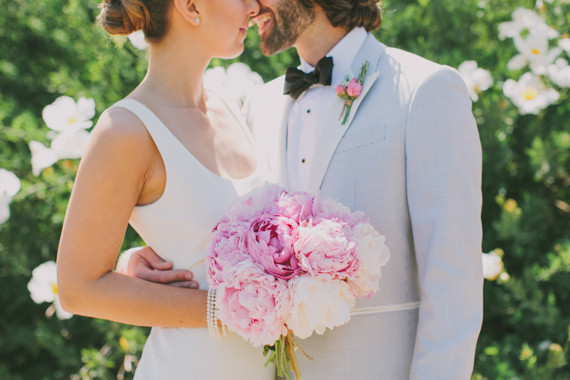Romantic Pink Bridal Bouquet and Boutonniere