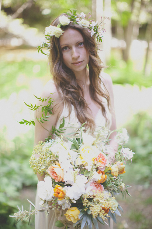 Large Bridal Bouquet by Kate Healey of Big Sur Flowers